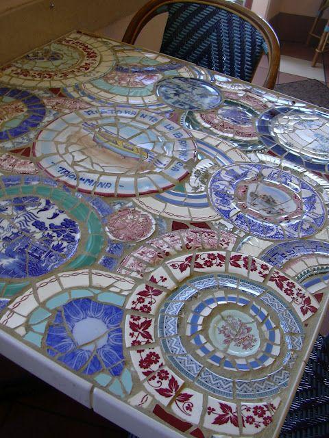 Dumpster Divin Mosaic Mosaic Tiles Mosaic Table