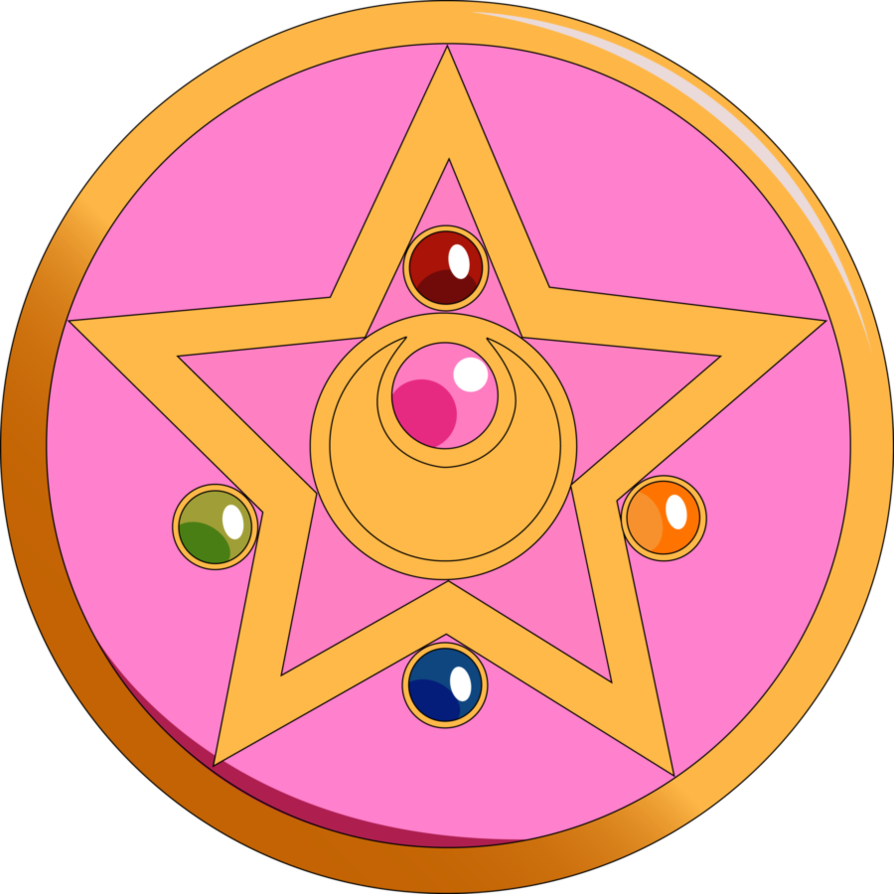 Moon Crystal Power Vector Sailor moon brooch, Sailor