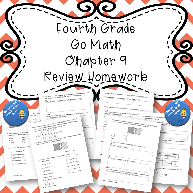 Fourth Grade Go Math Chapter 9 Review Homework in 2020 ...