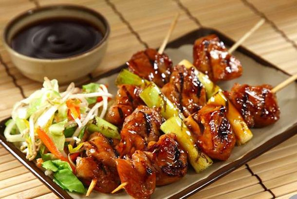 Gourmands love beef yakitori for its simple robust flavors and yakitori recipe from closet cooking ingredients 3 tablespoons soy 3 tablespoons mirin 2 tablespoons sake 1 tablespoon sugar 1 pound chicken breast forumfinder Images