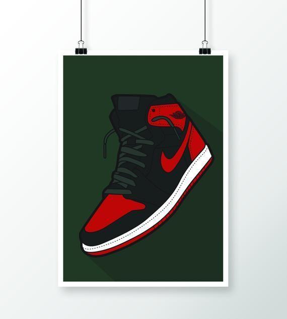 Air JORDAN DIGITAL PRINT Nike Streetwear Home Decor Wall