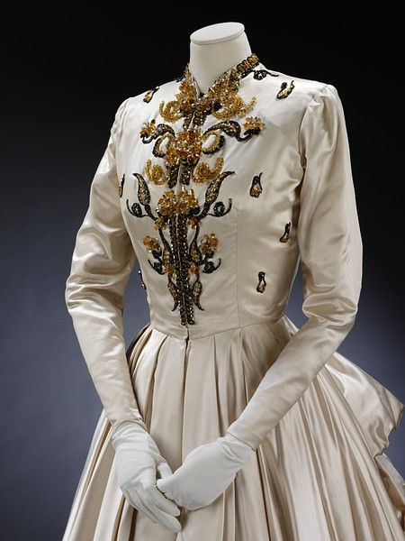 Evening dress and petticoat | Jacques Fath | V Search the Collections