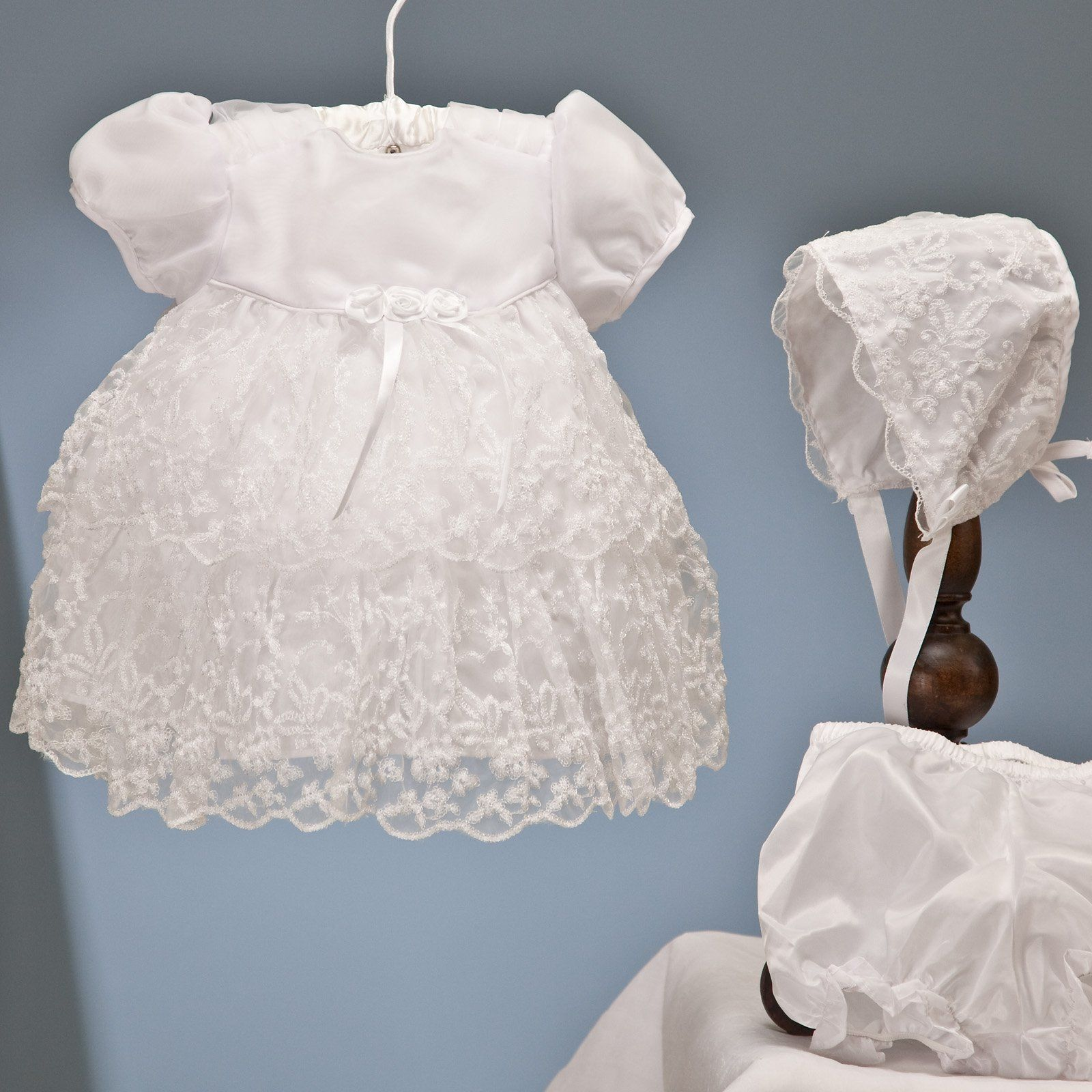 Have to have it. Tiffany Christening Dress with Bonnet $54.99