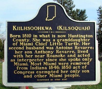 Photo of Kiilhsoohkwa (Kilsoquah) Historical Marker