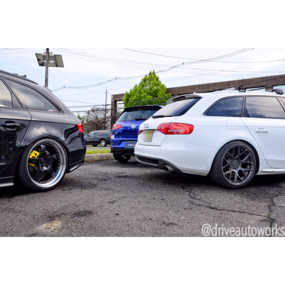 All These Butts In One Shot Finished Up This White B8 A4 Avant For Kwv3 Coilovers Wagon Audi Vag Suspension Mods Ser Air Ride Custom Cars Audi