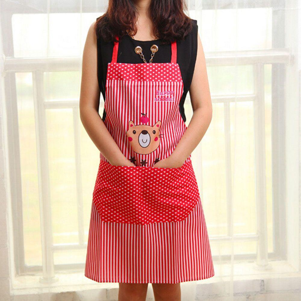 Morecome Women Restaurant Home Kitchen For Pocket Cooking Apron Bib