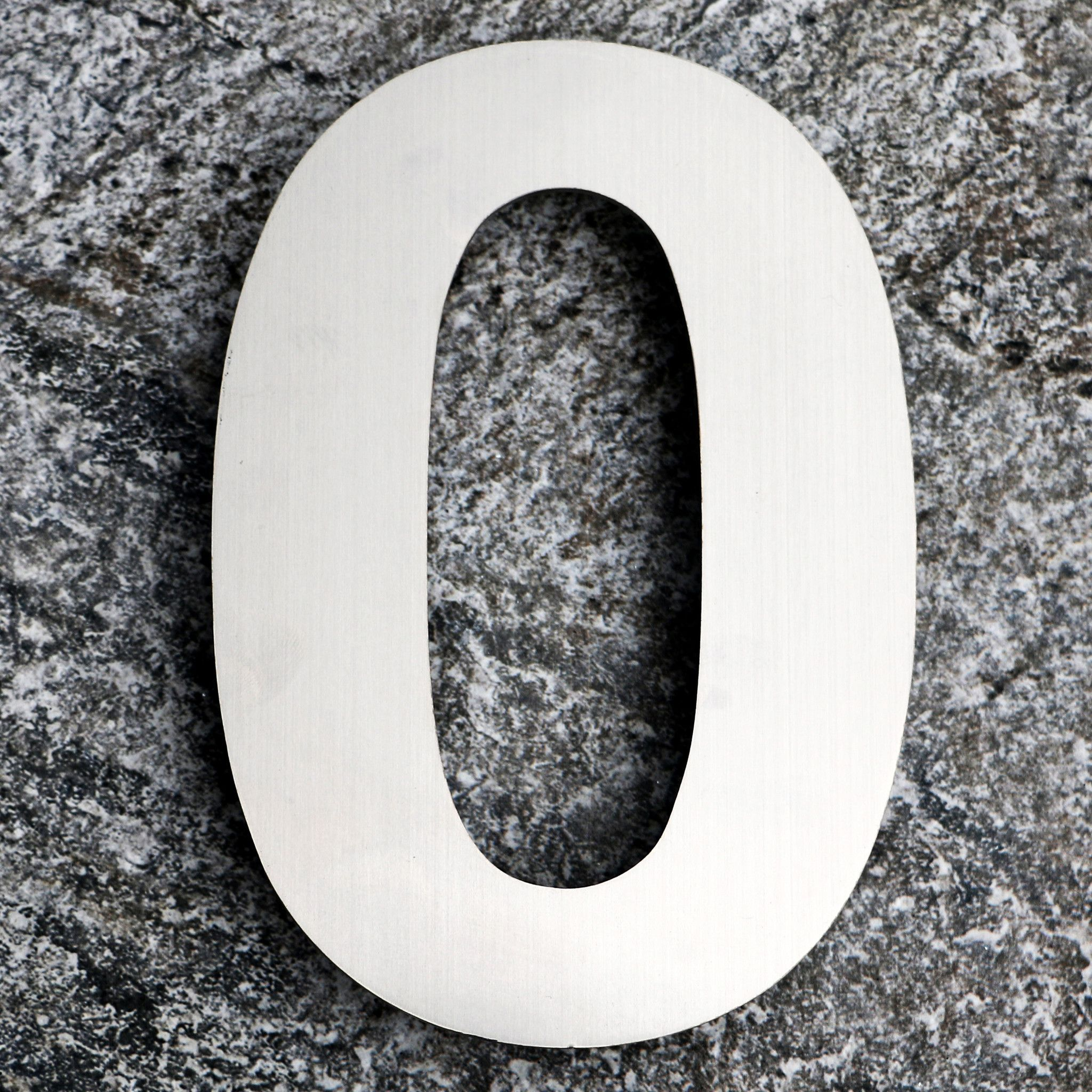 QT EXTRA LARGE Modern House Number 10 Inch Brushed Stainless