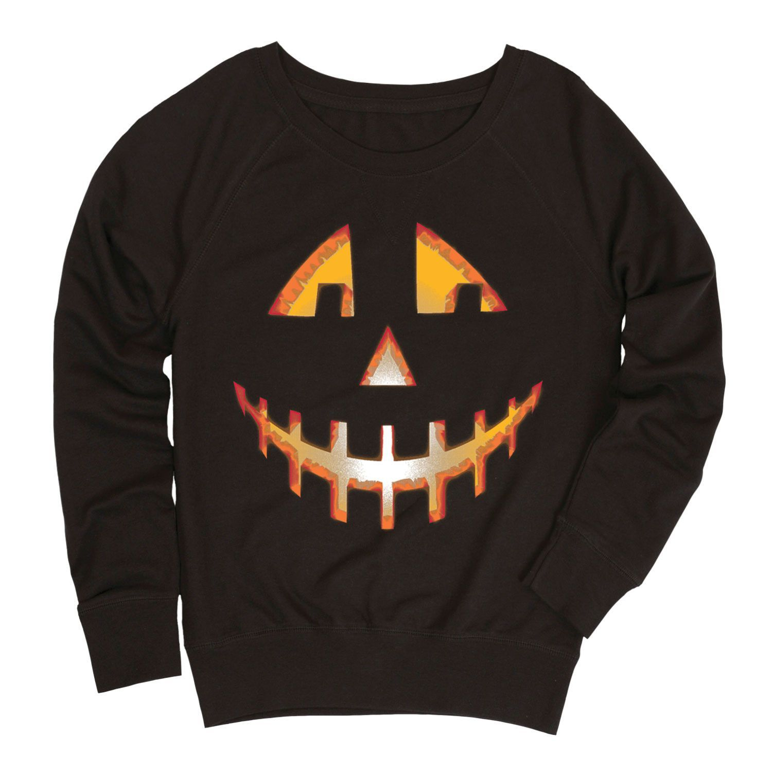 Nice Jack O Lantern Ladies French Terry Pullover