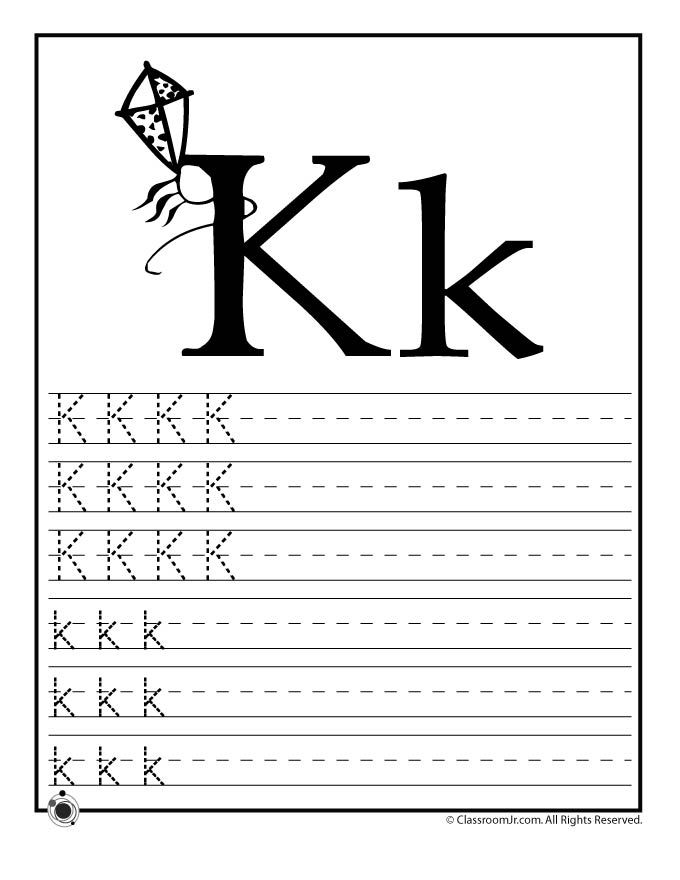 Printables K Worksheets For Kindergarten the letter k worksheets davezan 1000 images about kids on pinterest nu 39 est