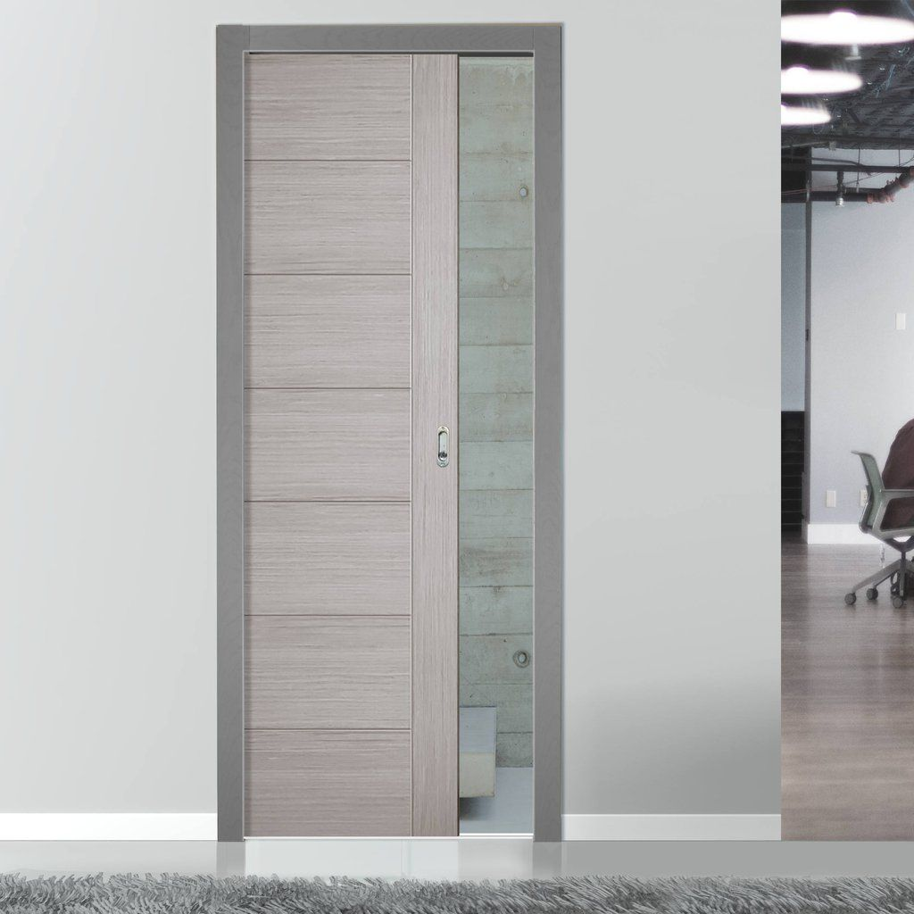 Single Pocket Doors Glass single pocket hampshire light grey internal door - prefinished