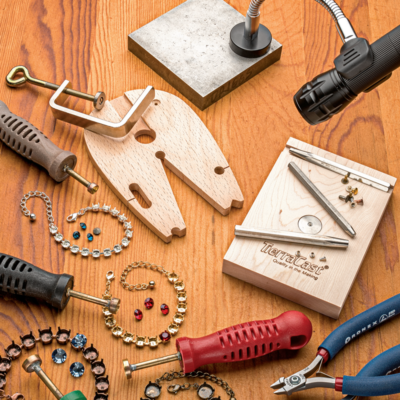 Helen Driggs shares her latest discoveries of new tools for creating cold connections in Cool Tools & Hip Tips; photo: Jim Lawson - from Jewelry That Says You: The Personal Touch - Interweave