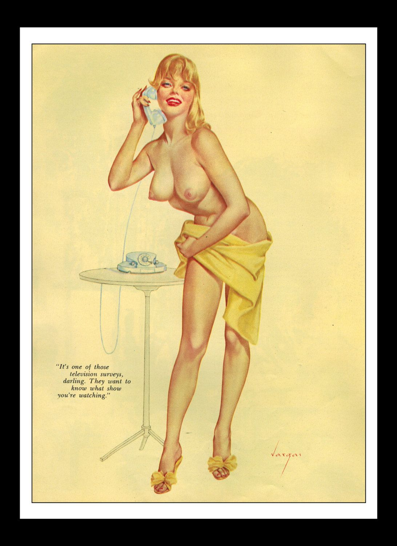 Vargas Playboy Pinup Girl Vintage March 1961 \