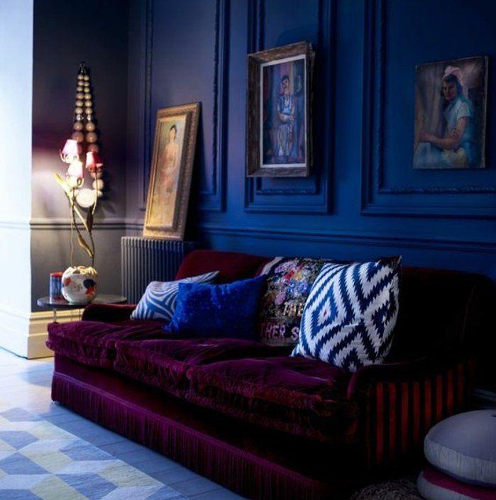 ▷1001+ idées pour une déco maison couleur indigo Salons