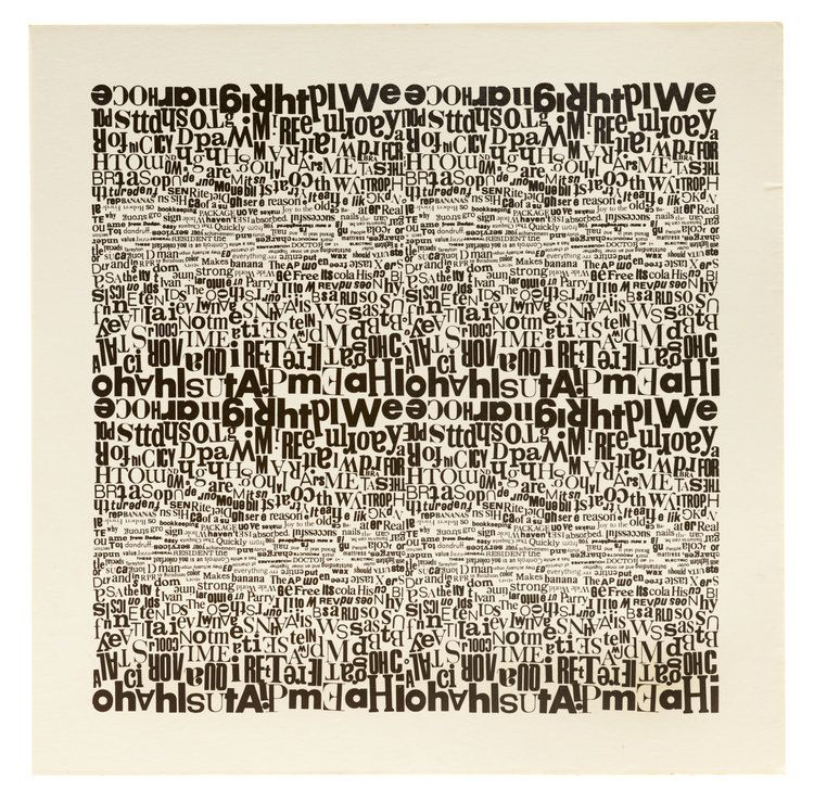 Aaron Marcus, untitled concrete poem, c. 1970 (With images ...