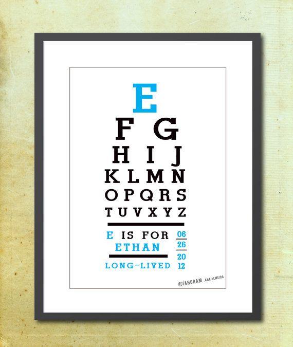 Custom Alphabet Print Baby Boy Name Meaning Eye By