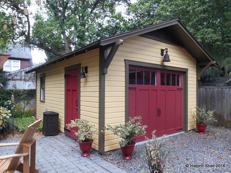 Custom One And Two Car Detached Garages And Garage Apartments In Florida |  Historic Shed