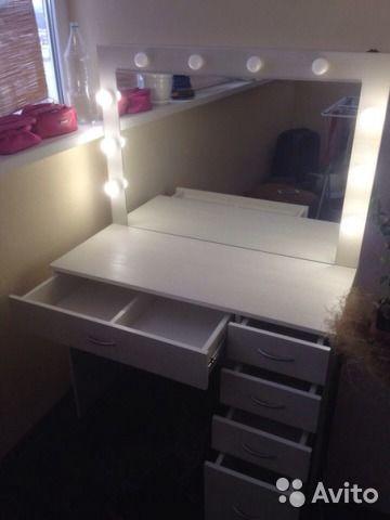 туалетный столик с зеркалом и подсветкой столик для работы и