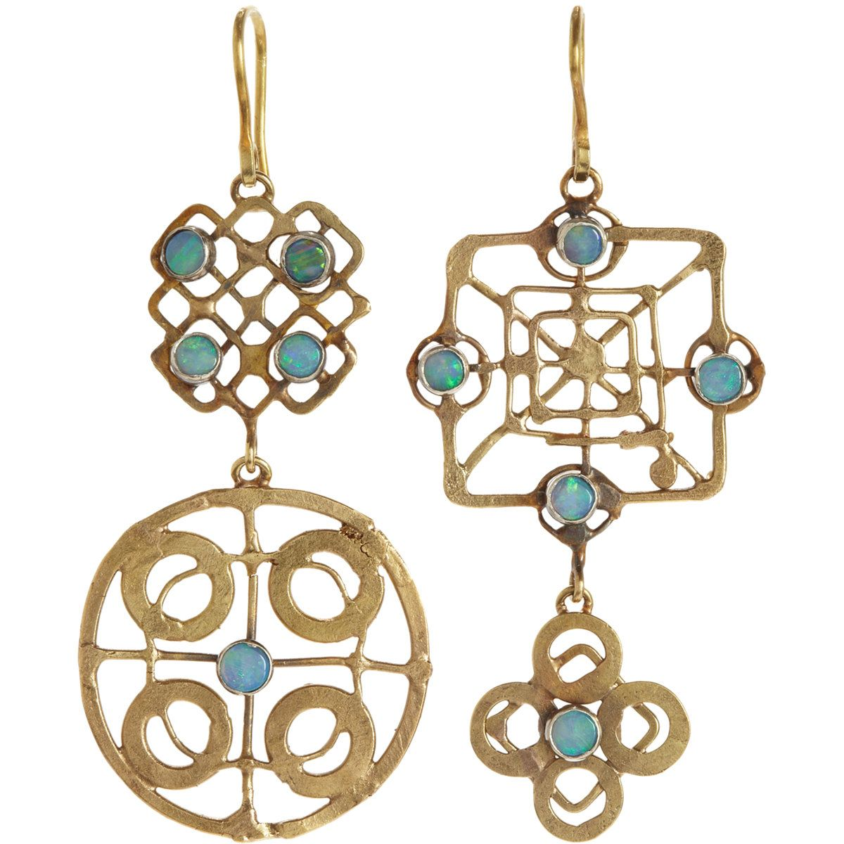 Judy Geib Womens Gold Wheel Triple-Drop Earrings RCbq5w
