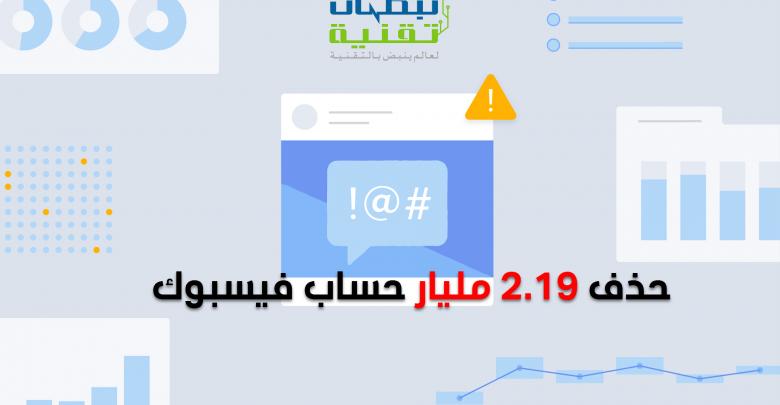 حذف 2 19 مليار حساب فيسبوك خلال الربع الأول من 2019 Bar Chart Chart Map