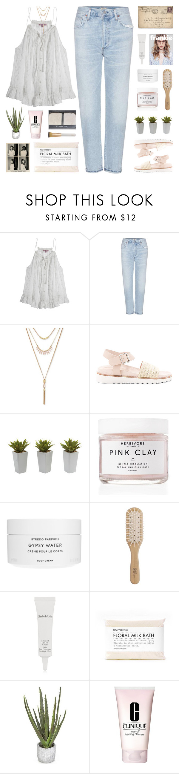 """""""even if"""" by my-pink-wings ❤ liked on Polyvore featuring Calypso St. Barth, Citizens of Humanity, Lucky Brand, Sol Sana, Nearly Natural, Herbivore, Byredo, Philip Kingsley, Elizabeth Arden and Tiffany & Co."""