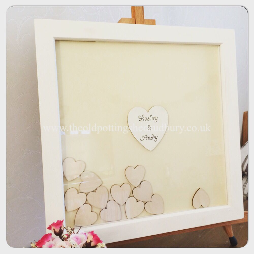 Drop Top Wedding Guest Book An Alternative Where Your Guests Wooden Hearts