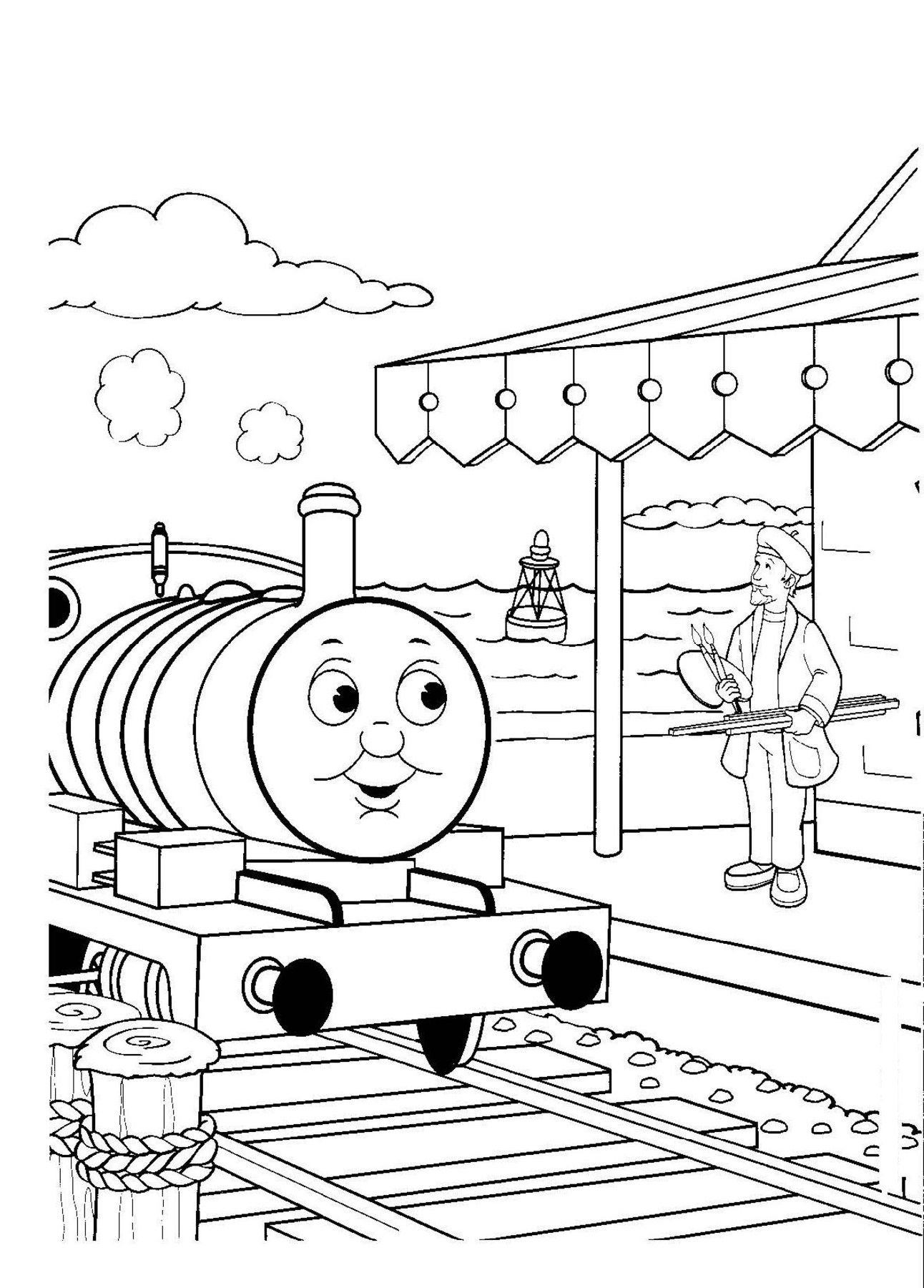 Thomas Railway Coloring Pages For Boys