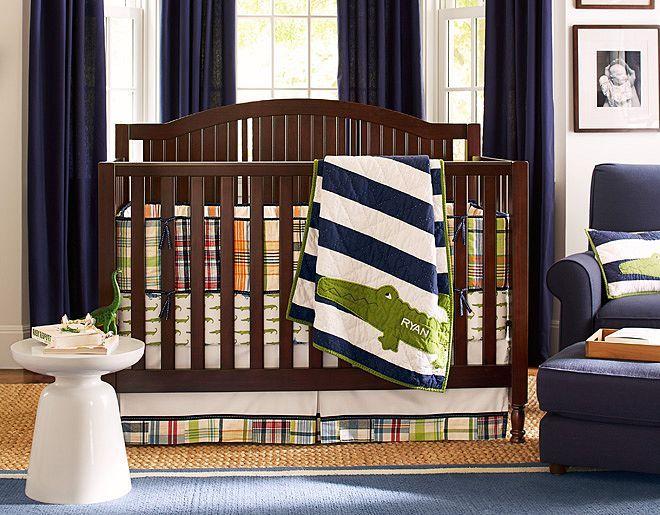 Perfect Palette Preppy Whimsical For A Boy S Nursery White Navy Drum Flushmount Light
