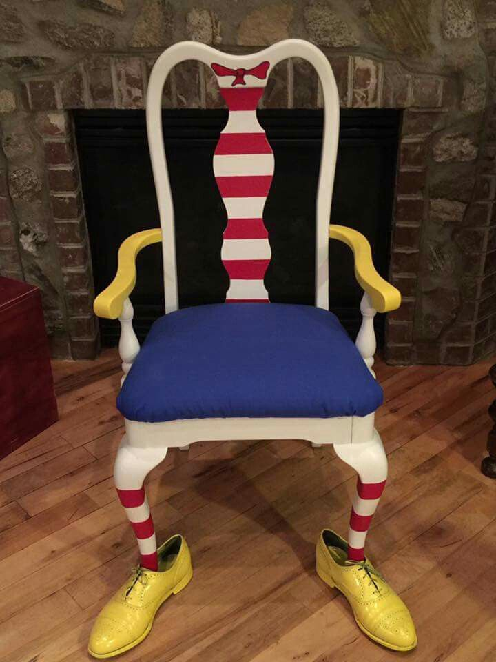 Dr Seuss Chair Fabric Kitchen Chairs Paint Transformations Pinterest Furniture