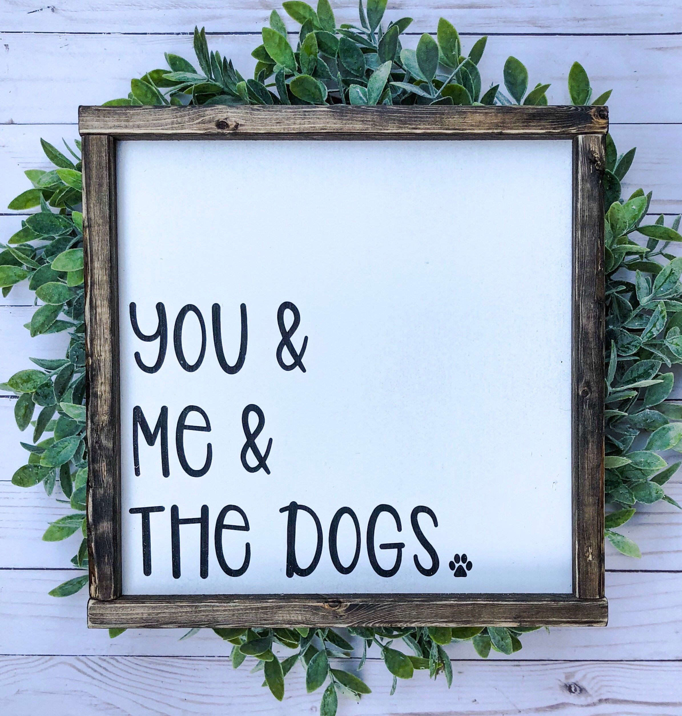 Photo of Signs With Quotes | Farmhouse Decor | Signs For Home | Wall Decor | Framed Wood Signs | Farmhouse Sign | Dogs | Pets | Living Room Decor