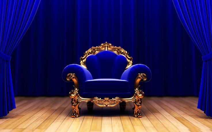 Blue sofa Background