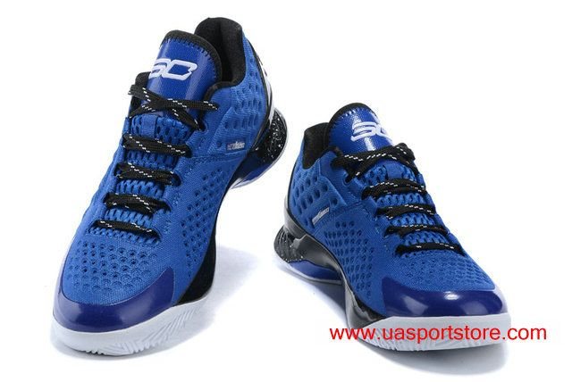 reputable site 97718 68158 Under Armour Curry 1 Low Royal Blue Black White Dots Men s Basketball Shoes