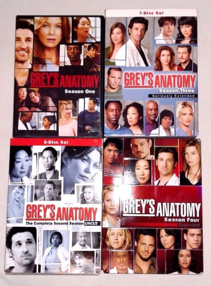 Greys Anatomy Complete Seasons 1-4 DVD Set TV Show Series Drama ...