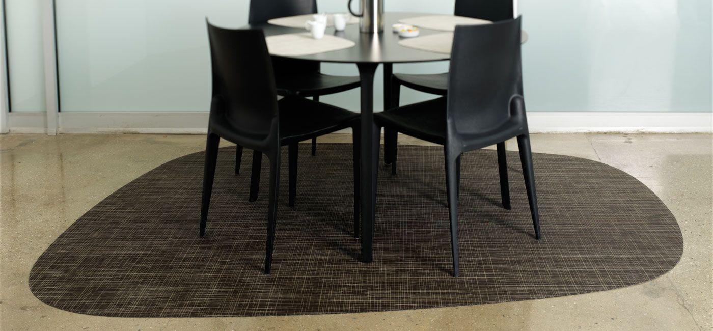 Living Room Chilewich Floor Custom Mats Lounge Russet Mat