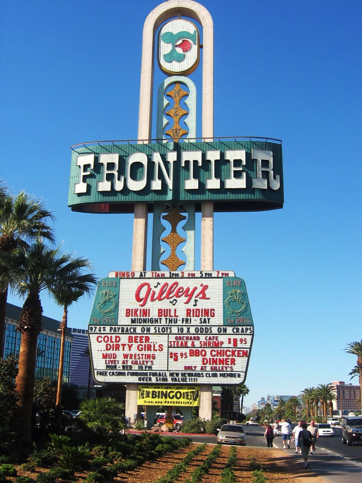 Image result for frontier hotel sign in neon museum