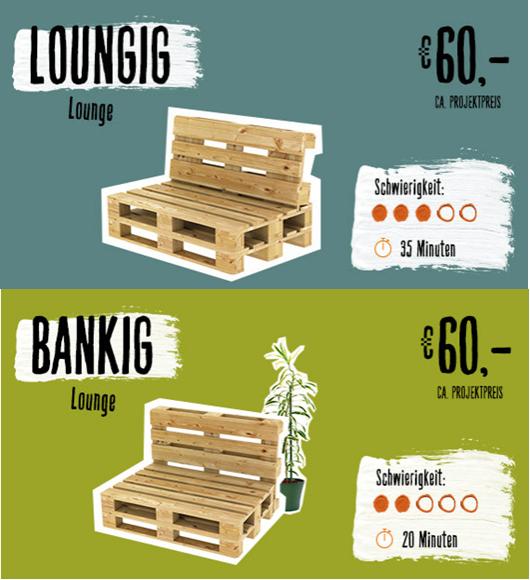 Ganz Schnell Selbst Gebaut Zwei Coole Banke Aus Paletten Fur Balkon Und Garten Lounge Sitzmoglichkeiten Mobel Aus Paletten Paletten