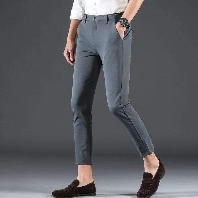 1e7c8eb50ca8 2018 Pring Summer Brand Clothing Men Casual Pants Business Slim Fit Elastic  Ankle-length Pants Men s Skinny Pants Men Trousers