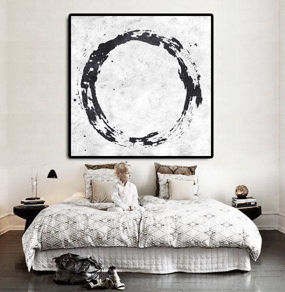 Minimal black and white painting mn19a wasserbett for Minimal art kunstwerke