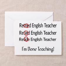Retired teacher ii greeting card retired teacher pinterest retired teacher ii greeting card bookmarktalkfo Images