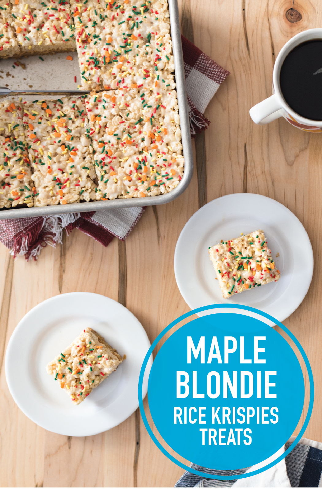 Maple Blondie Crispy Treats Recipe Maple Syrup Recipes Rice