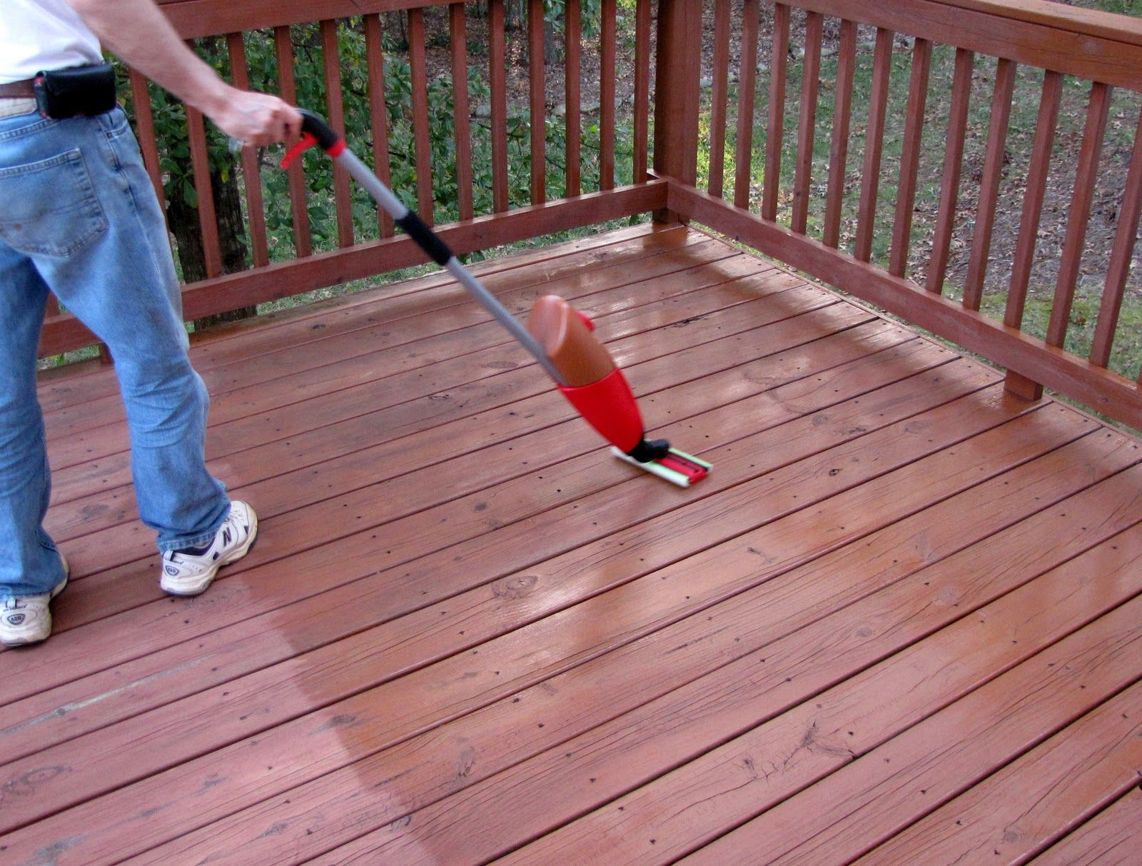 For Staining The Deck Goodbye House Hello Home Homemaking Interior Design Blog Staging Diy Last We Staining Deck Interior Design Blog Backyard Design