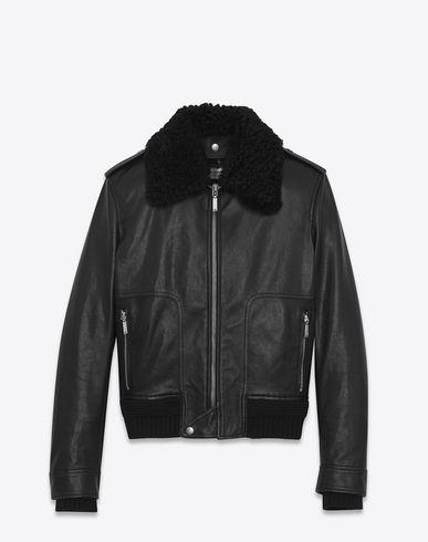 30bdb2d13e1 SAINT LAURENT Car Jacket In Black Leather And Shearling. #saintlaurent  #cloth #