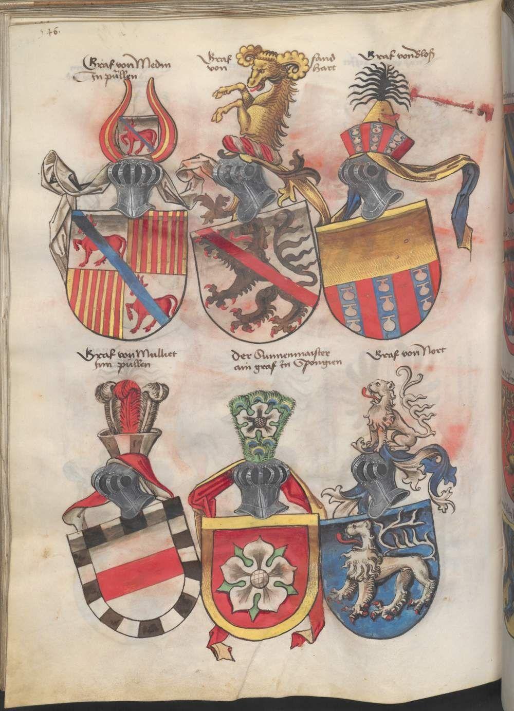 Grünenberg, Konrad: Das Wappenbuch Conrads von Grünenberg, Ritters und Bürgers zu Constanz um 1480 Cgm 145 Folio 151