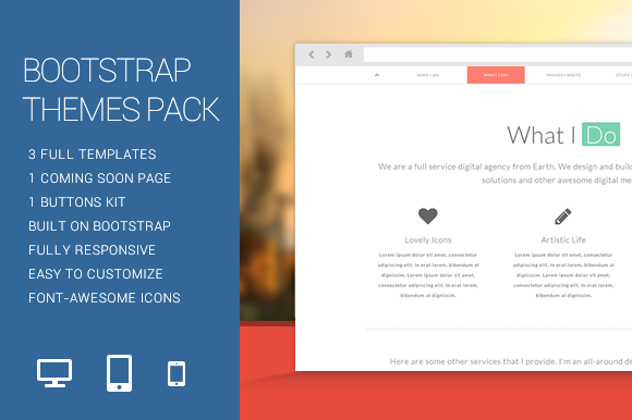 Bootstrap Themes Pack by FWPolice on Creative Market