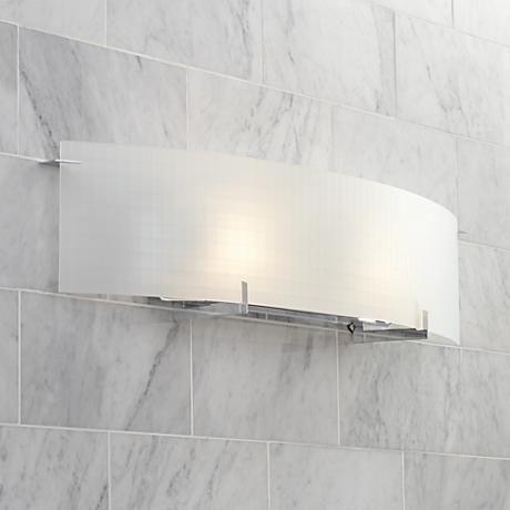 """Soho 33 34"""" Wide Checkered Glass Bathroom Light Fixture Entrancing Light Fixtures Bathroom Design Decoration"""
