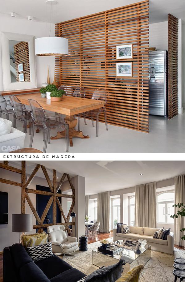 Dividir espacios ambientes separar espacios biombos Decoracion de espacios abiertos en casa