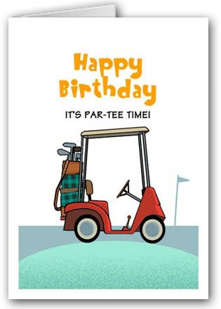 Assorted Boxed Golf Birthday Cards