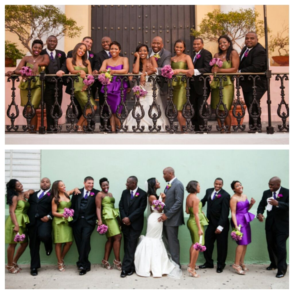 Nigerian Wedding Party: Nigerian Wedding Bridal Party Olive Green And Purple