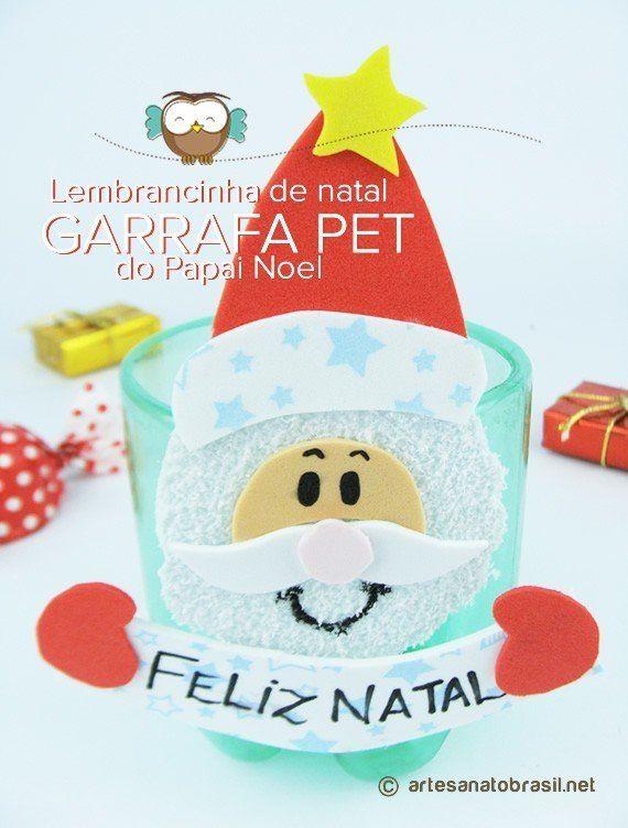 Lembrancinha de Natal com Garrafa Pet de Papai Noel (Passo a Passo)