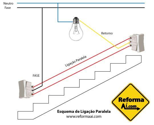 Quarto Esquema De Ligacao Interruptor Como Fazer Instalacao Eletrica