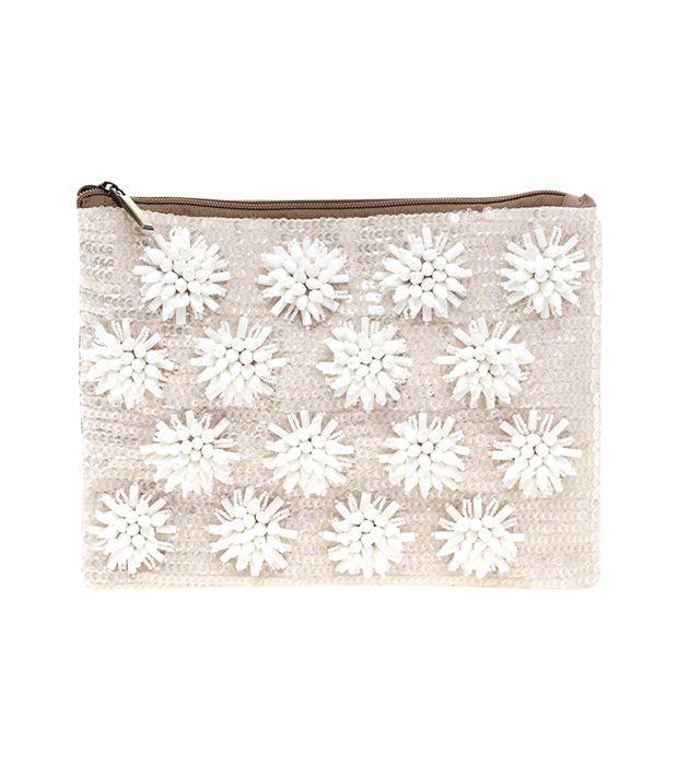 ASOS Floral Beaded Clutch Bag